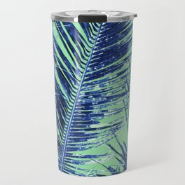 Tropical Palm Blue Travel Mug
