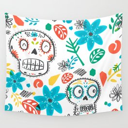 Summer sugar skulls Wall Tapestry