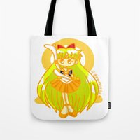 sailor venus Tote Bags featuring Sailor Venus by Glopesfirestar