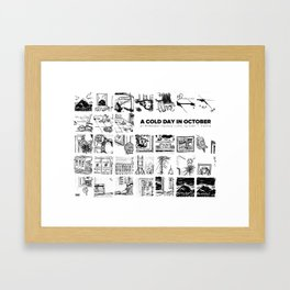 A Cold Day in October Framed Art Print