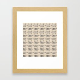 Rhino Lines Framed Art Print