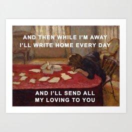 Young Woman Sending Love Art Print