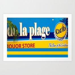 La Plage Carribbean Art Print
