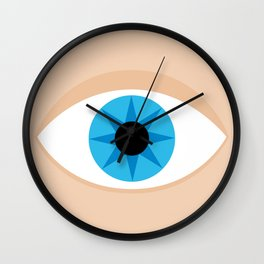 an eye Wall Clock