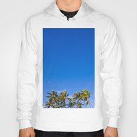 palm trees Hoodies featuring Palm Trees by JacPfef