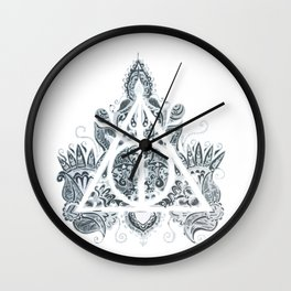 Mandala deathly hallows Wall Clock