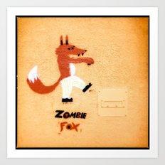 Zombie Fox Art Print