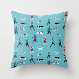 Canicross Quartet Throw Pillow