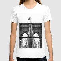 brooklyn bridge T-shirts featuring Brooklyn Bridge by Graham Dunk