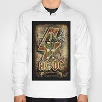 acdc Hoodies featuring AC/DC angus young by aceofspades81