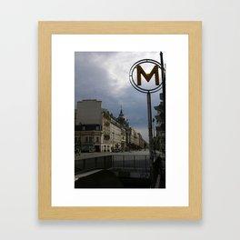 Street Scene, Paris, France Framed Art Print