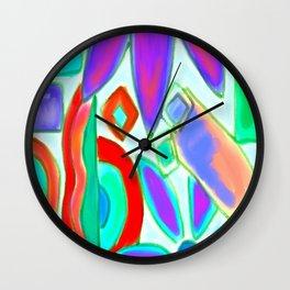 Summer Abstract Digital Painting Wall Clock