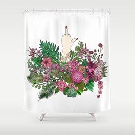 Botanical Bird Bouquet Shower Curtain