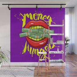 Gold Mouth | Money Hunger Wall Mural