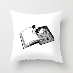 Drenched through my mind Throw Pillow