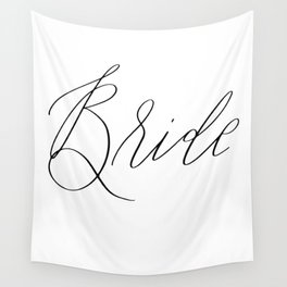 Lettered Bride Wall Tapestry