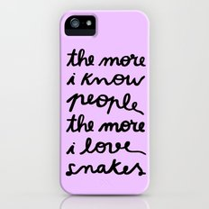 ALL MY FRIENDS ARE SNAKES Slim Case iPhone (5, 5s)