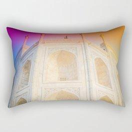 Morning Light at Taj Mahal Rectangular Pillow
