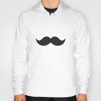 moustache Hoodies featuring Moustache by Hannah Ison
