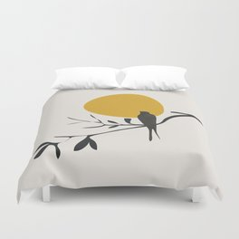 Bird and the Setting Sun Duvet Cover