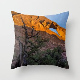 Skyline Arch At Sunset - Arches National Park - Utah Throw Pillow