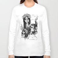 dia de los muertos Long Sleeve T-shirts featuring Dia de los Muertos by Khaedin