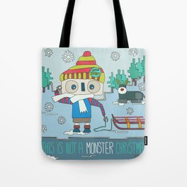 This is not a Monster Christmas Tote Bag