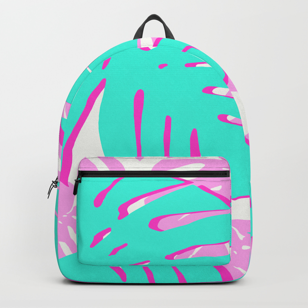 Vibrant Tropical Leaves Backpack by Beautifularts BKP8956716