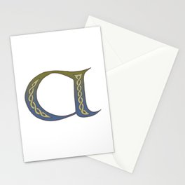Celtic Knotwork Alphabet - Letter A Stationery Cards
