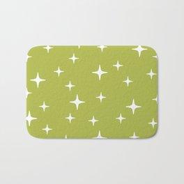 Mid Century Modern Star Pattern 443 Chartreuse Bath Mat
