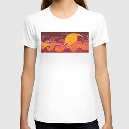 Waves V red colors V Duffle Bags T-shirt