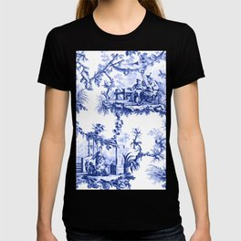 Blue Chinoiserie Toile T-shirt