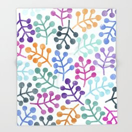 Flower Pattern IV Throw Blanket