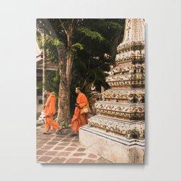 Monks in motion. Metal Print