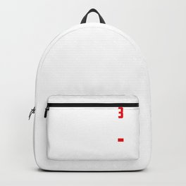 Dad of Three 3 Cubed design Low Battery Gift for Dads Backpack