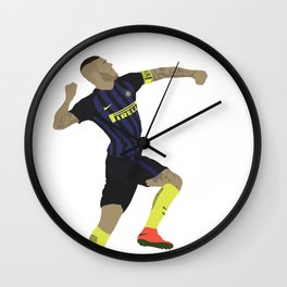 Mauro Icardi Inter Milan Print Wall Clock