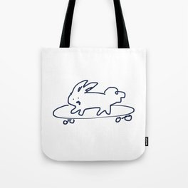 Skateboard Bunny RABBITS TALKING Tote Bag