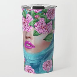 Lady with Camellias Travel Mug