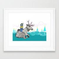elk Framed Art Prints featuring Elk by Anne Augenblick