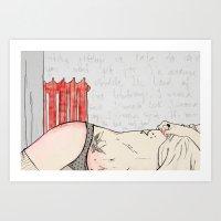 gitchy gitchy Art Print