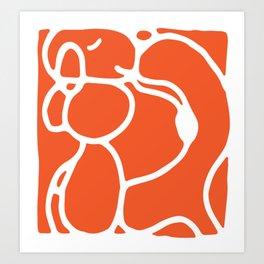 Orange Dog Art Print