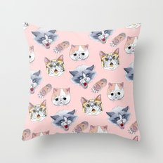 Cat Attack Throw Pillow