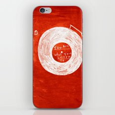you are what you listen to, RED iPhone & iPod Skin
