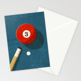 BILLIARDS / Ball 3 Stationery Cards