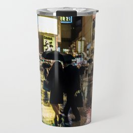 Love actually is all around - Rainy Night at Shibuyacrossing Travel Mug