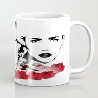 miley cyrus Mugs featuring Miley Cyrus by Kunooz