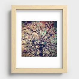 Colorful tree loves you and me. Recessed Framed Print