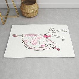 ballerina figure Rug