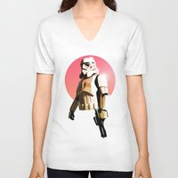 stormtrooper V-neck T-shirts featuring Stormtrooper by Skyfisher