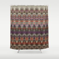 plane Shower Curtains featuring Air Plane by Zandonai Pattern Designs